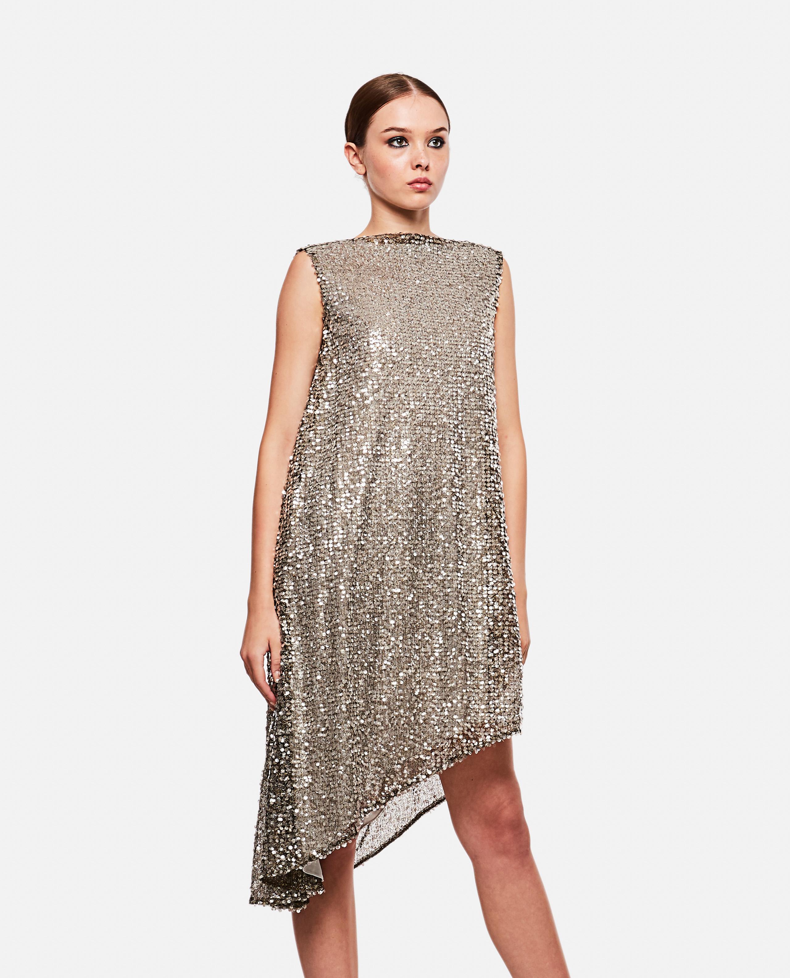 Asymmetrical sequined dress