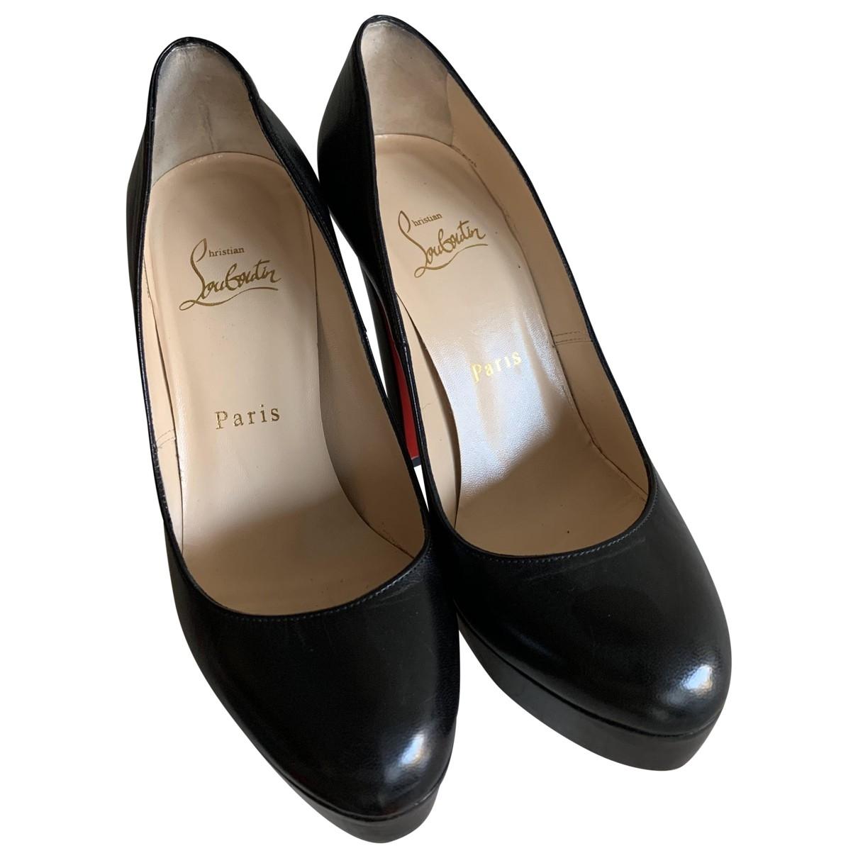 Christian Louboutin Bianca Black Leather Heels for Women 36.5 EU