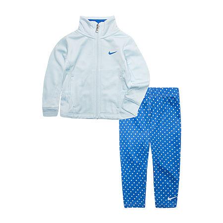 Nike Toddler Girls 2-pc. Legging Set, 3t , Blue