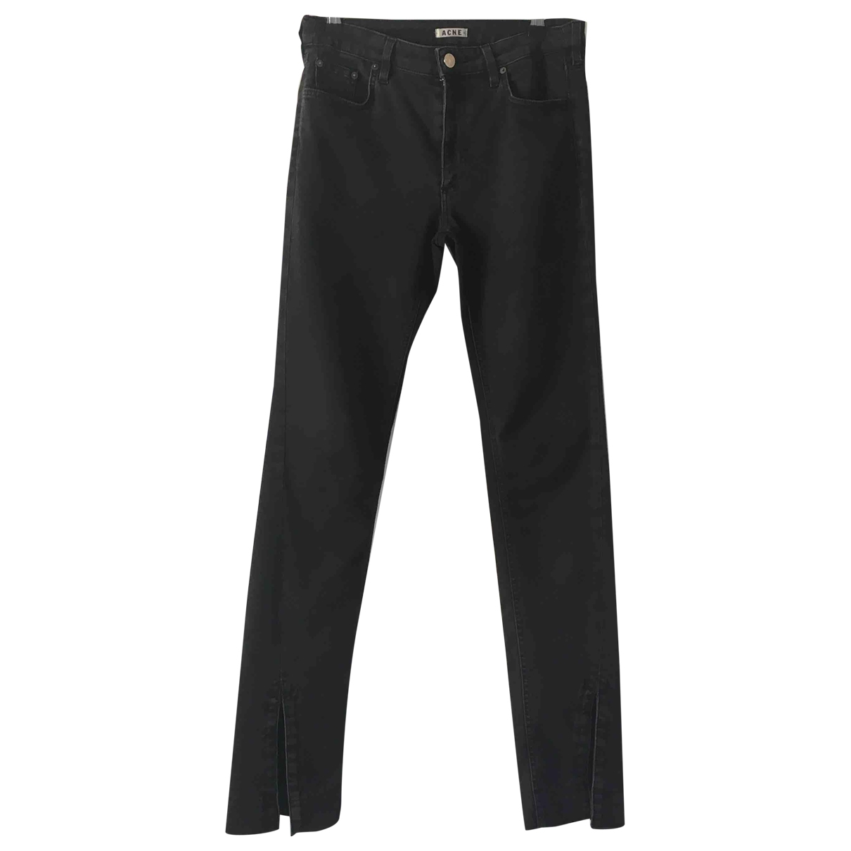 Acne Studios \N Black Cotton Trousers for Women 38 IT