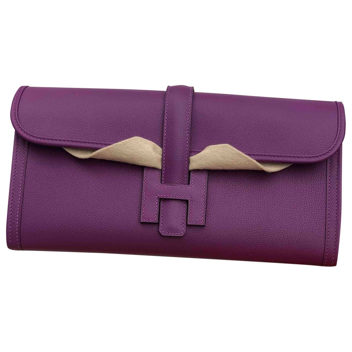Hermès Jige Leather Clutch bag for Women \N