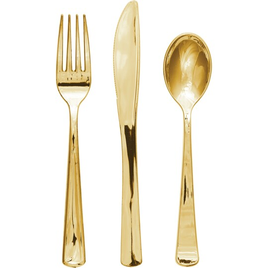 12 Packs: 24 Ct. (288 Total) Gold Assorted Cutlery By Celebrate It™ | Michaels®