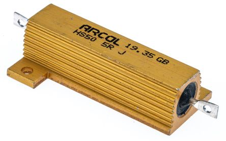 Arcol HS50 Series Aluminium Housed Axial Wire Wound Panel Mount Resistor, 5Ω ±5% 50W