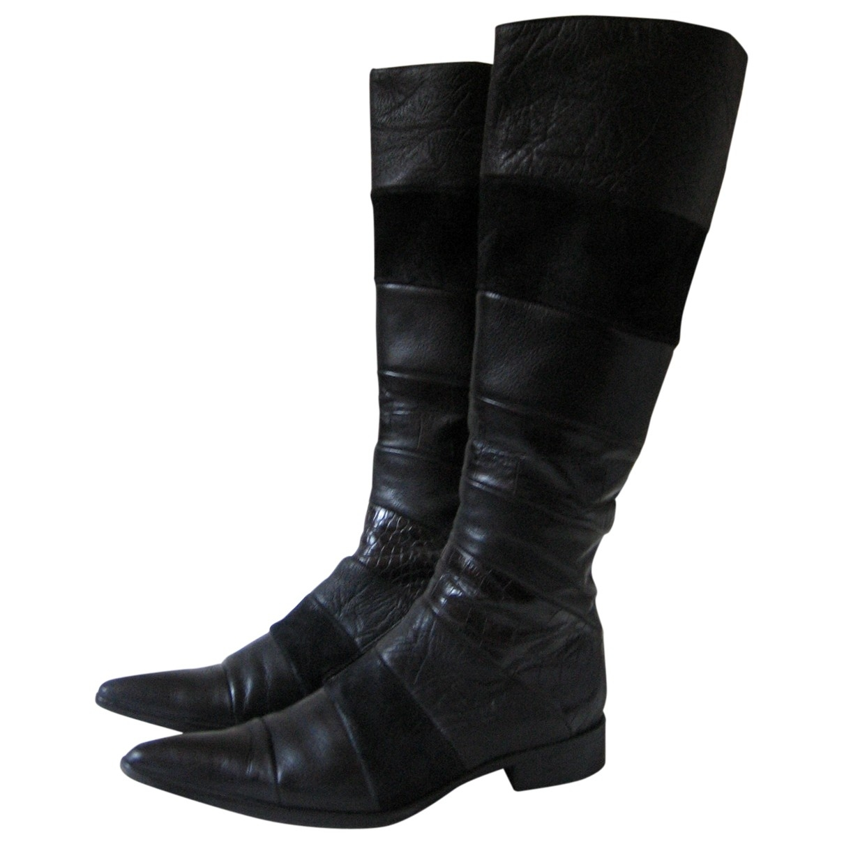 Free Lance \N Black Leather Ankle boots for Women 36 EU