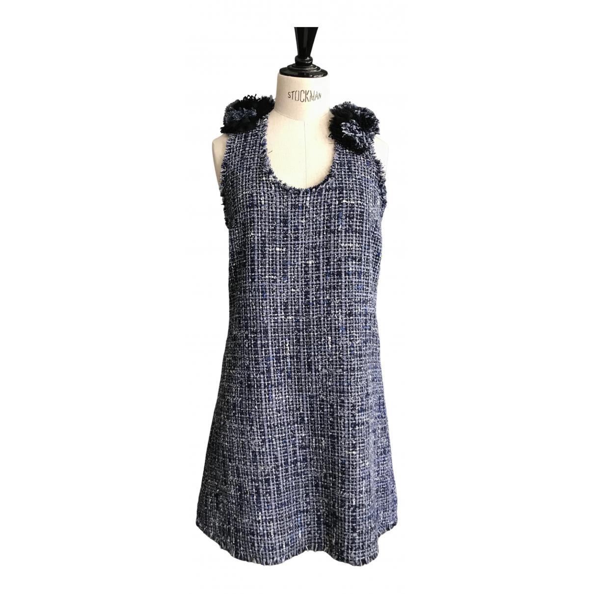 Sonia Rykiel - Robe   pour femme en tweed - marine