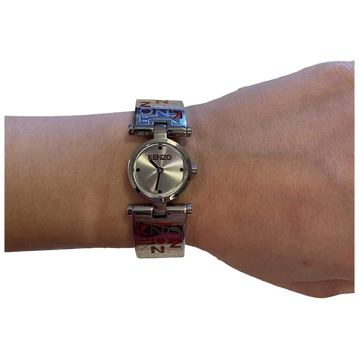 Kenzo \N Uhr in  Silber Stahl