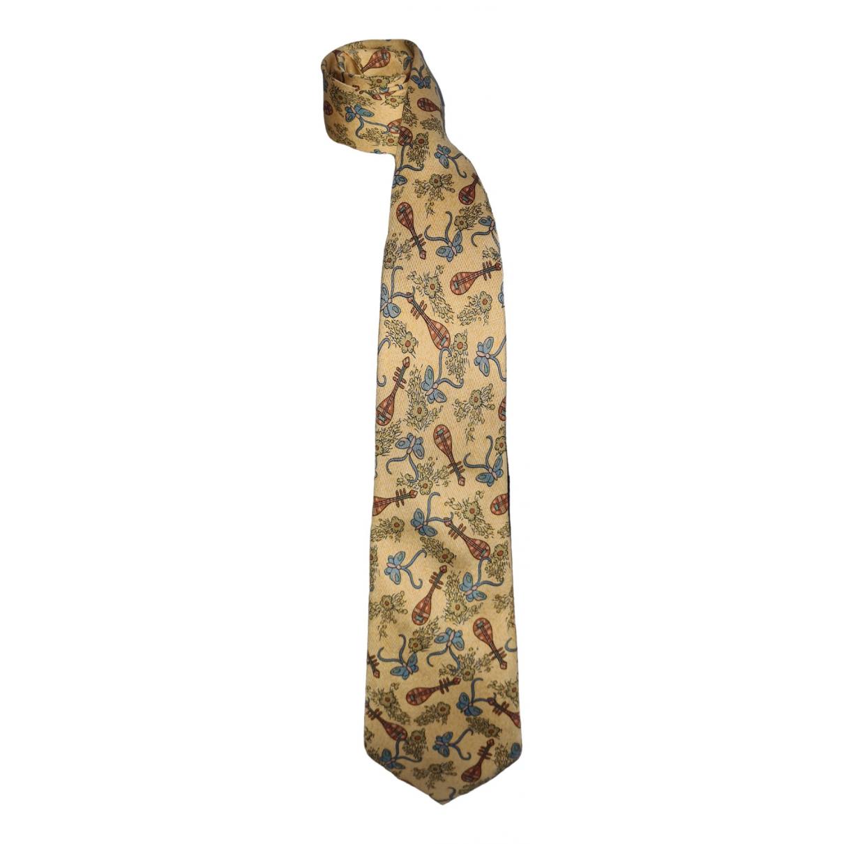 Hermes - Cravates   pour homme en soie - beige