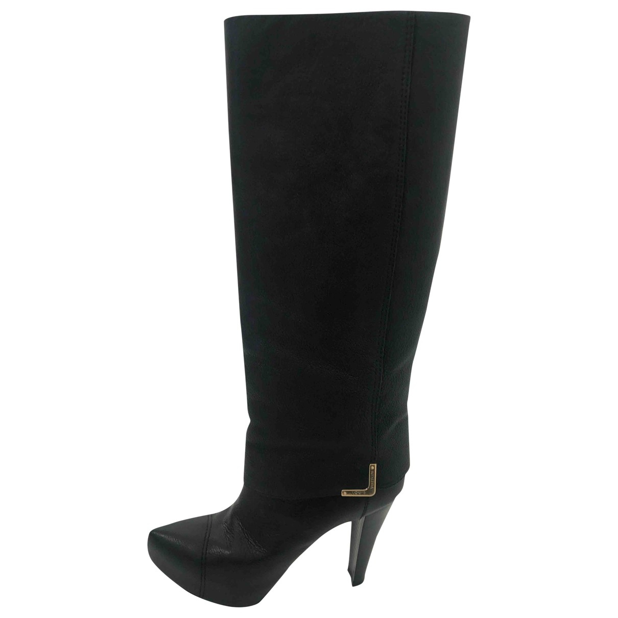 Louis Vuitton \N Black Leather Boots for Women 39 EU