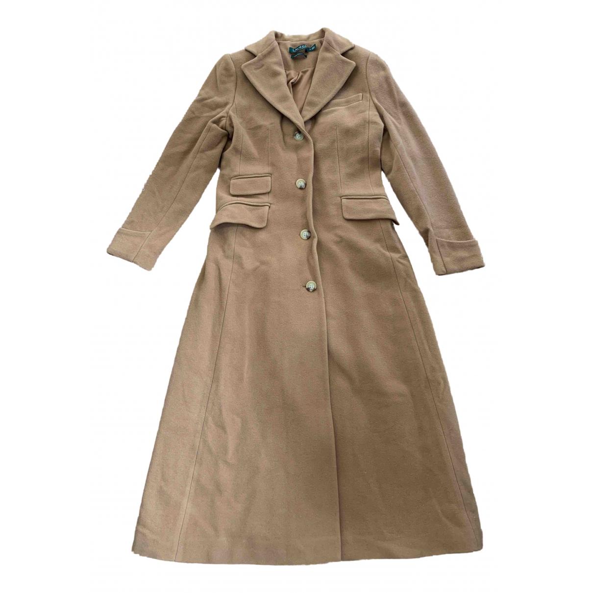 Lauren Ralph Lauren \N Camel Wool coat for Women 2 US