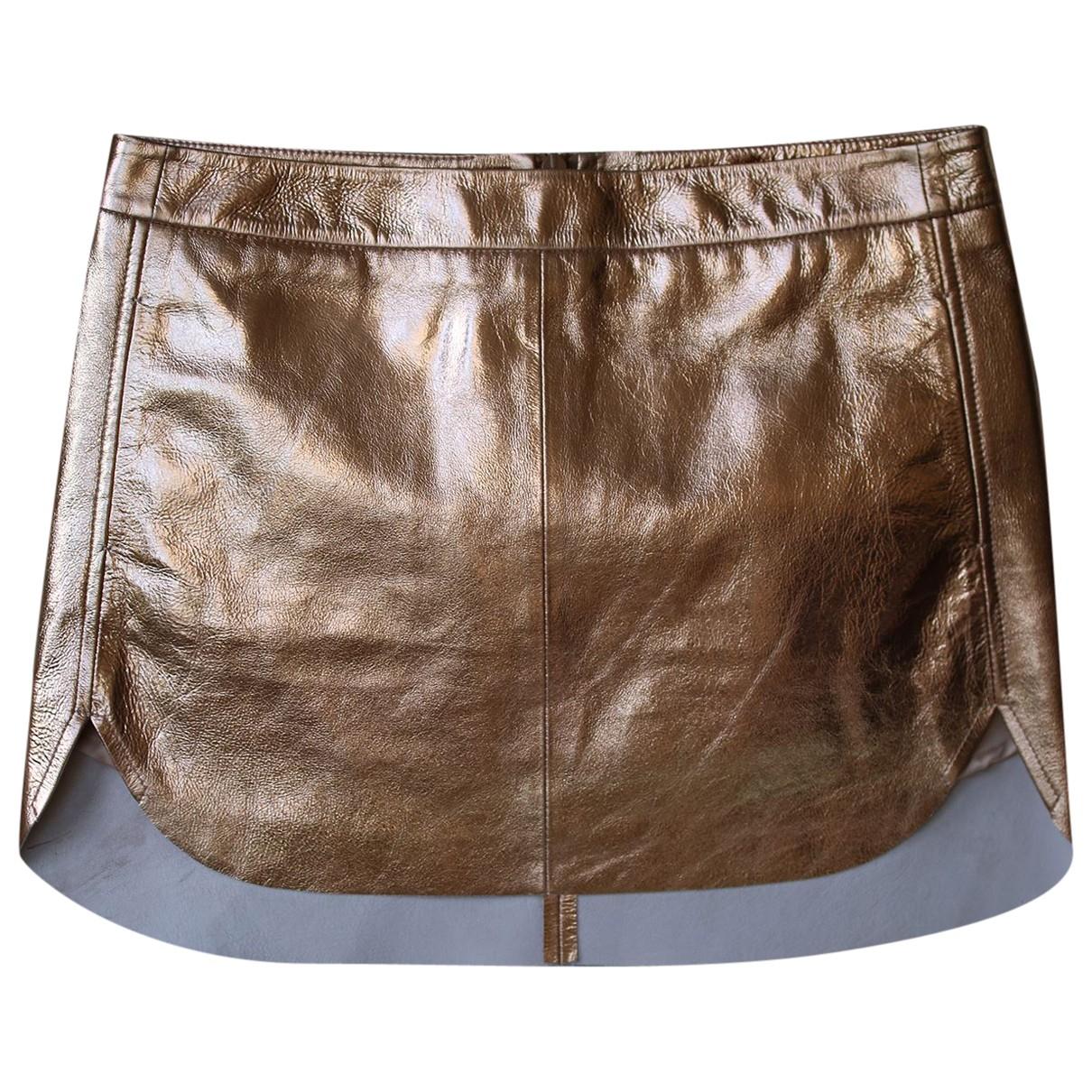 Mason By Michelle Mason - Jupe   pour femme en cuir - metallise