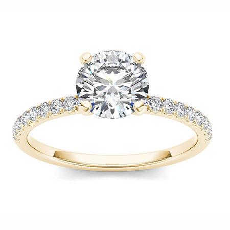 1 1/4 CT. T.W. Round White Diamond 14K Gold, 7 , No Color Family