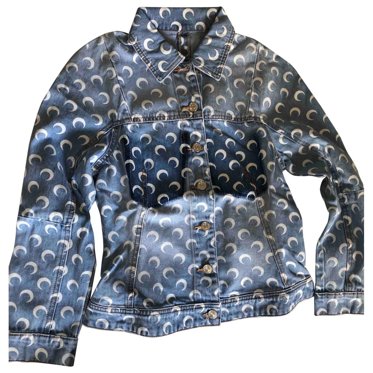 Marine Serre - Veste   pour femme en denim - bleu