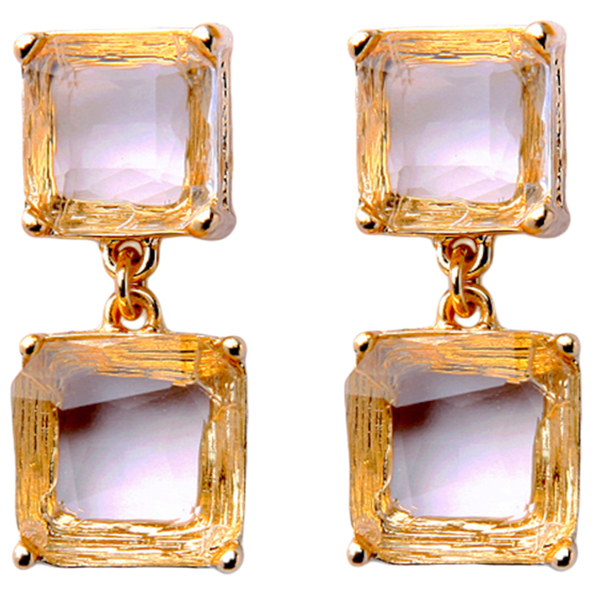 Non Signe / Unsigned Art Deco OhrRing in  Gold Metall