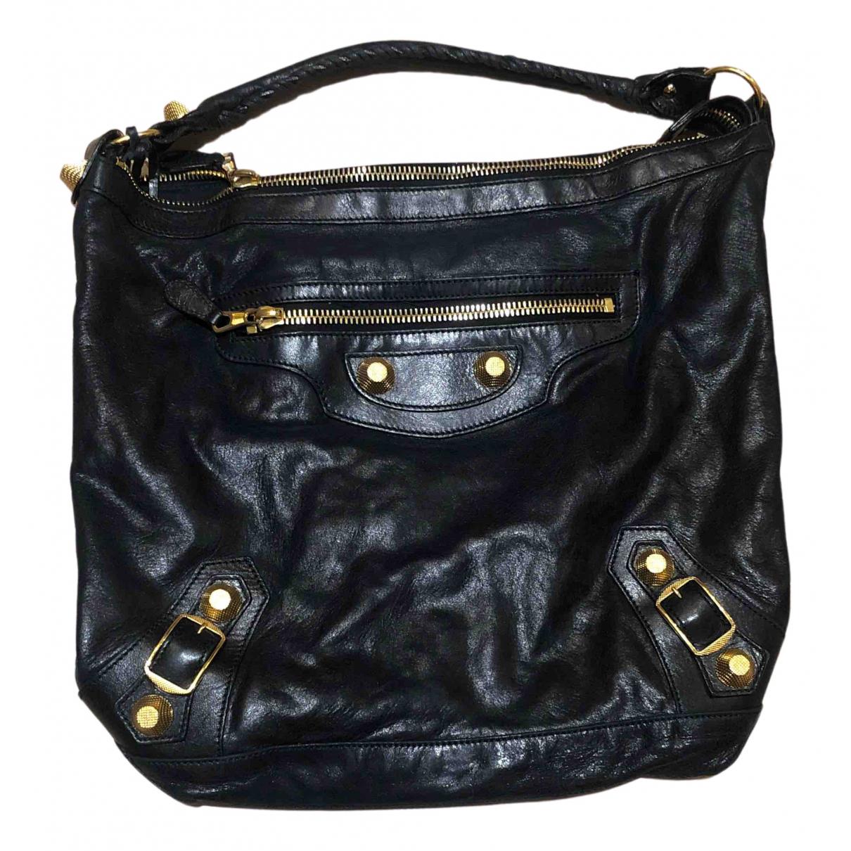 Balenciaga Day  Black Leather handbag for Women N
