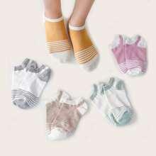 5pairs Striped Socks