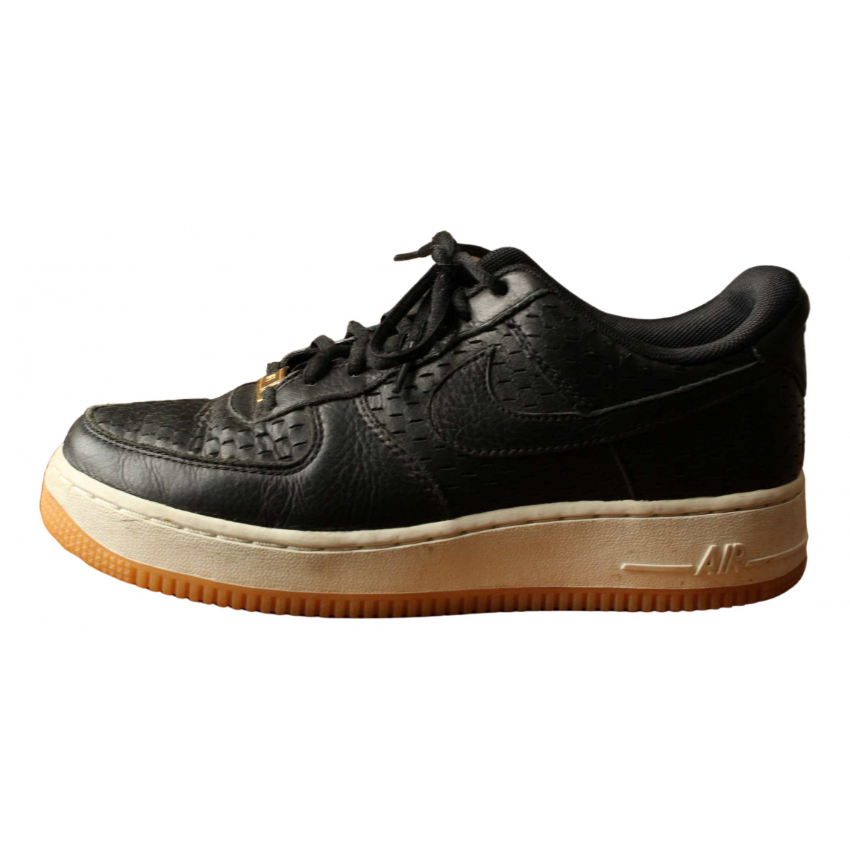 Nike Air Force 1 Black Leather Trainers for Women 38.5 EU