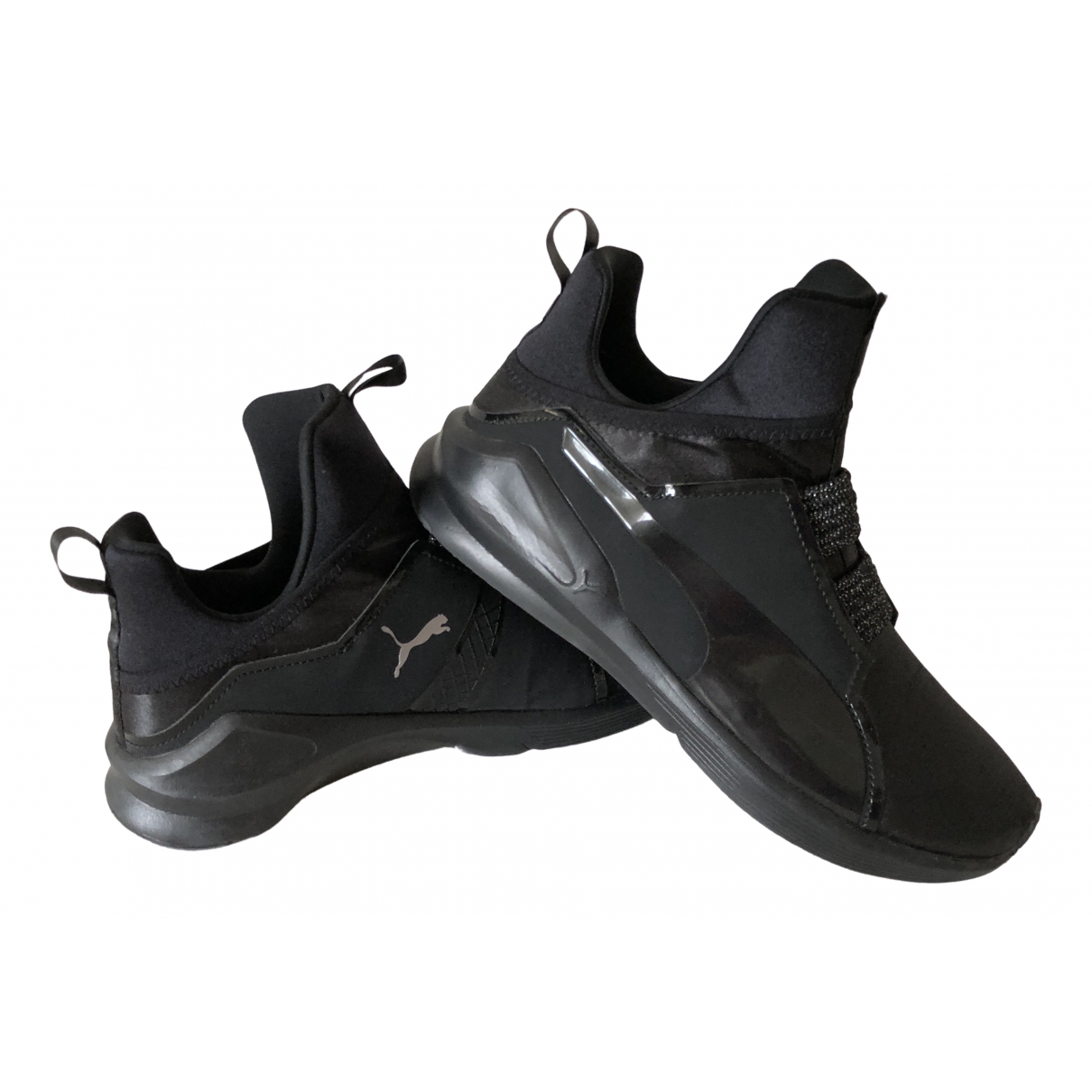 Puma - Baskets   pour femme en toile - noir