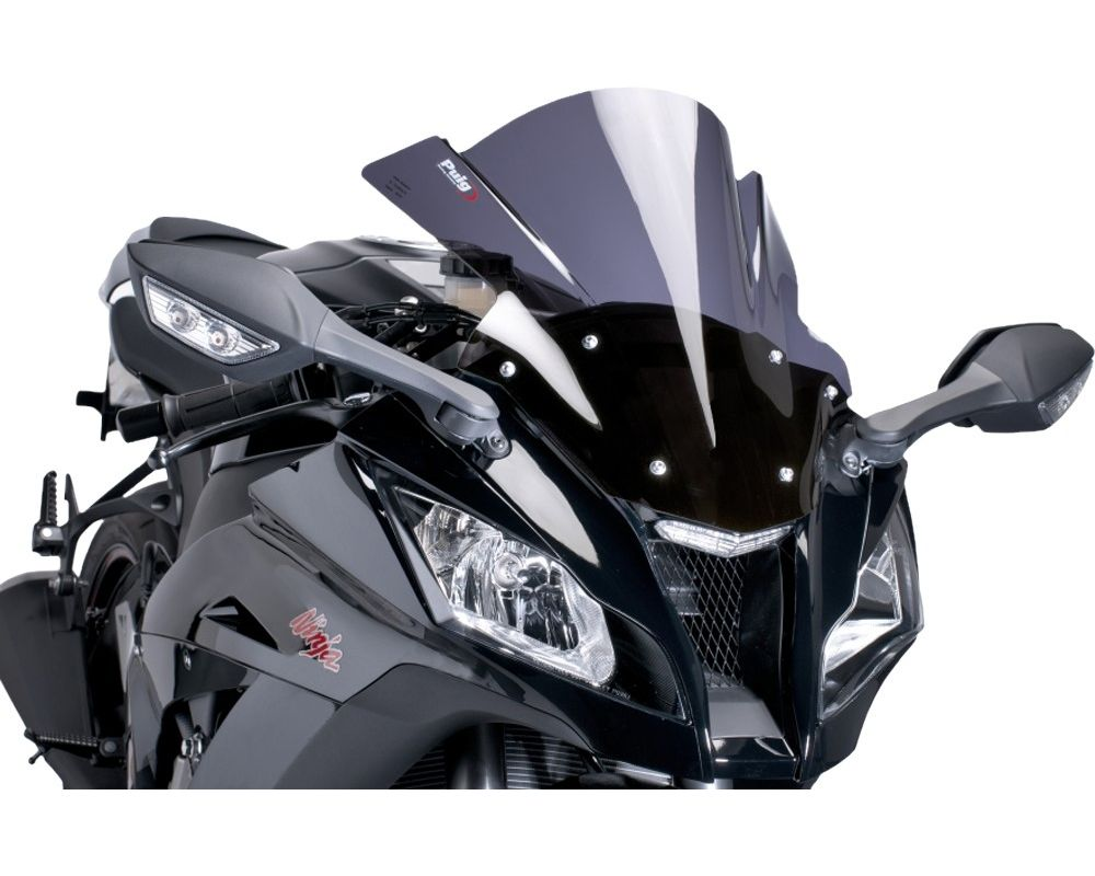 Puig 0201N Racing Windscreen - Black Honda CBR954RR 2001