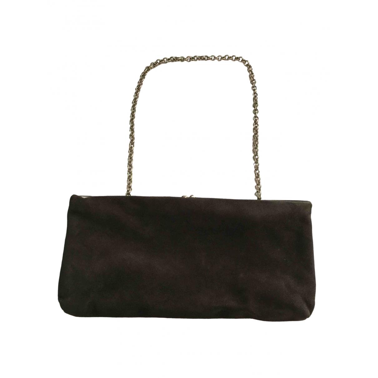 Dolce & Gabbana \N Anthracite Suede Clutch bag for Women \N
