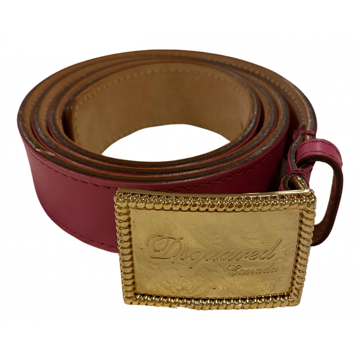 Dsquared2 N Pink Leather belt for Women S International