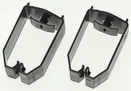 HellermannTyton Cable Clip Black Screw PVC Saddle Clamp