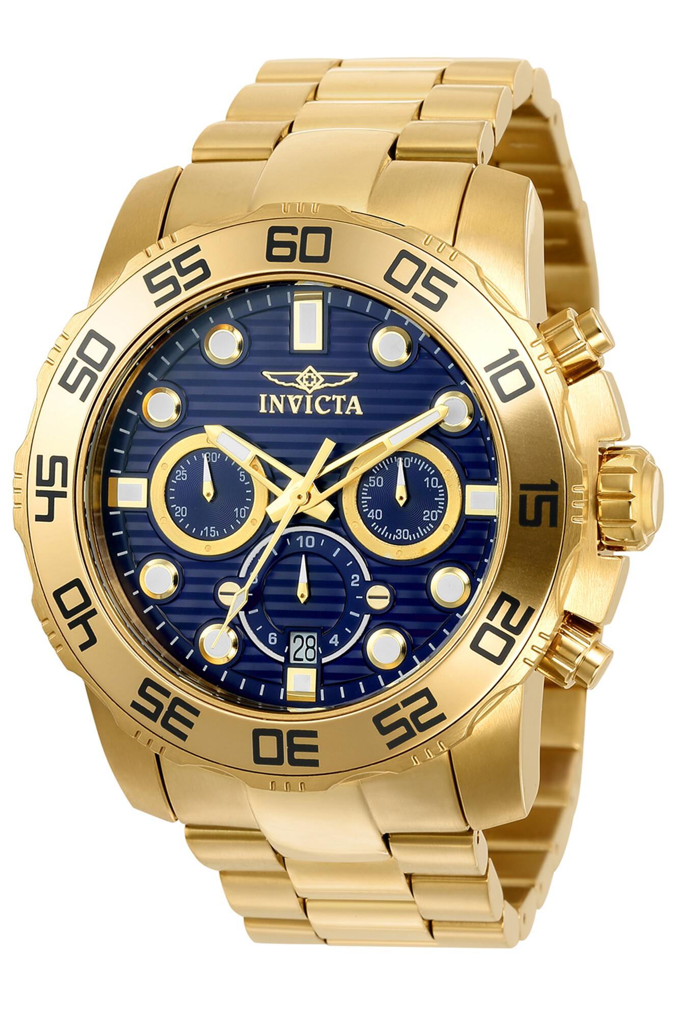 Invicta Men's Pro Diver 22228 Gold Stainless-Steel Quartz Diving Watch