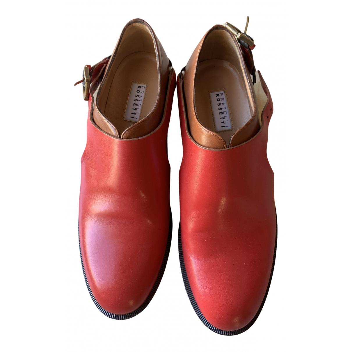 Fratelli Rossetti - Derbies   pour femme en cuir - rouge