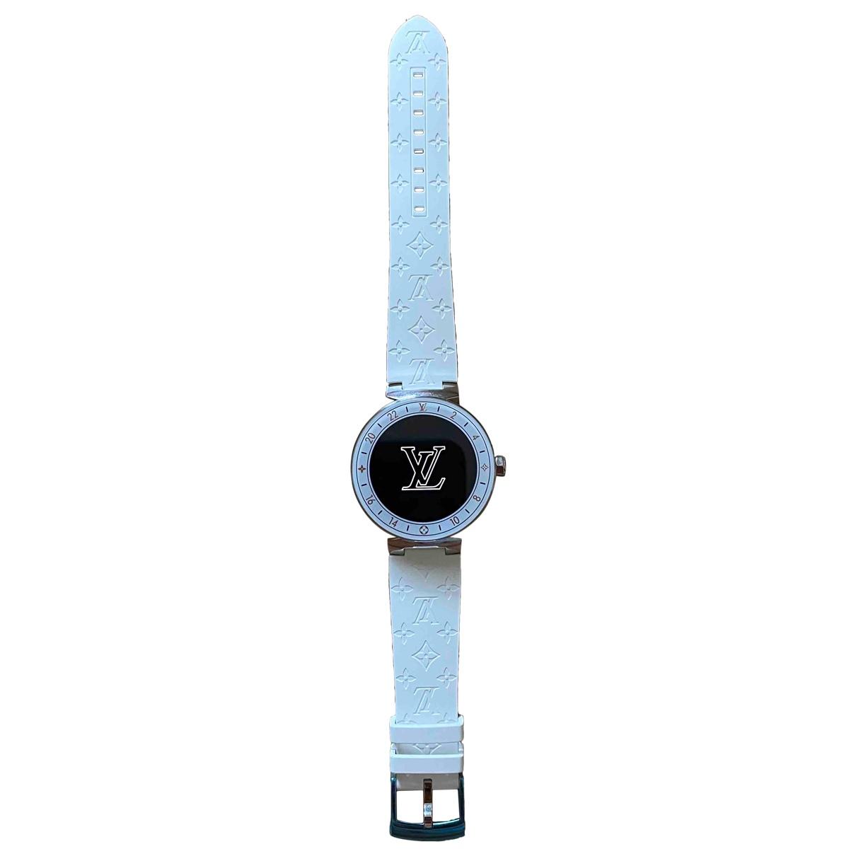 Louis Vuitton - Montre Tambour Horizon pour femme en acier - blanc