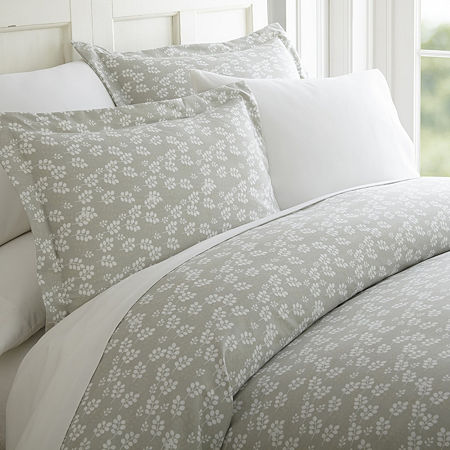 Ienjoy Home Casual Comfort Premium Ultra Soft Wheatfield Pattern Duvet Cover Set, One Size , Gray