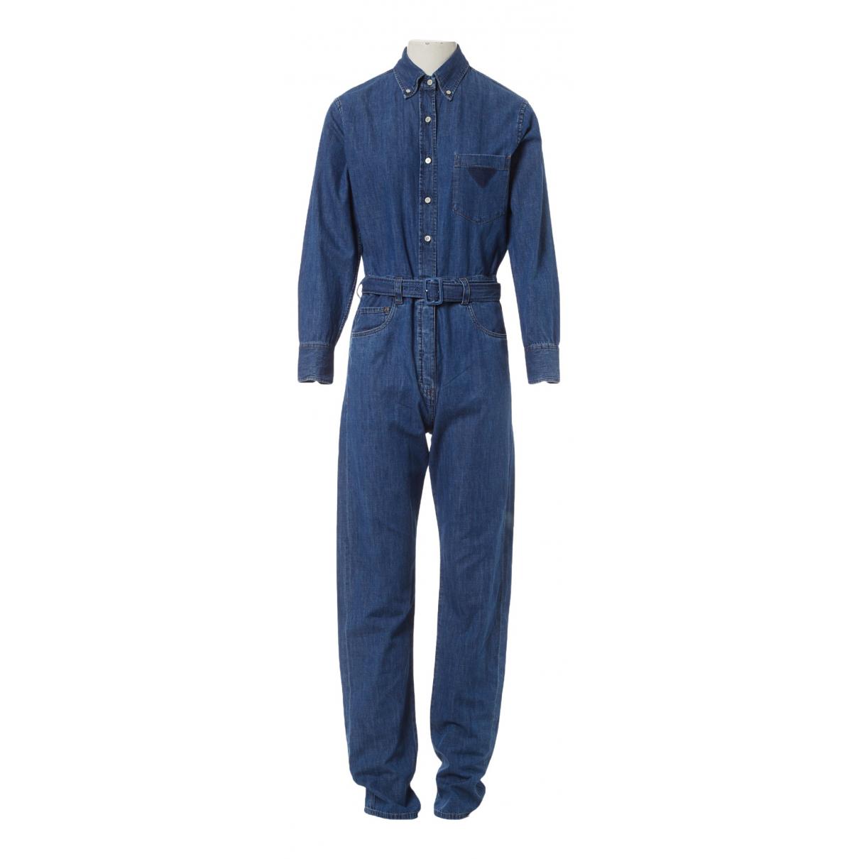 Prada \N Jumpsuit in  Blau Baumwolle