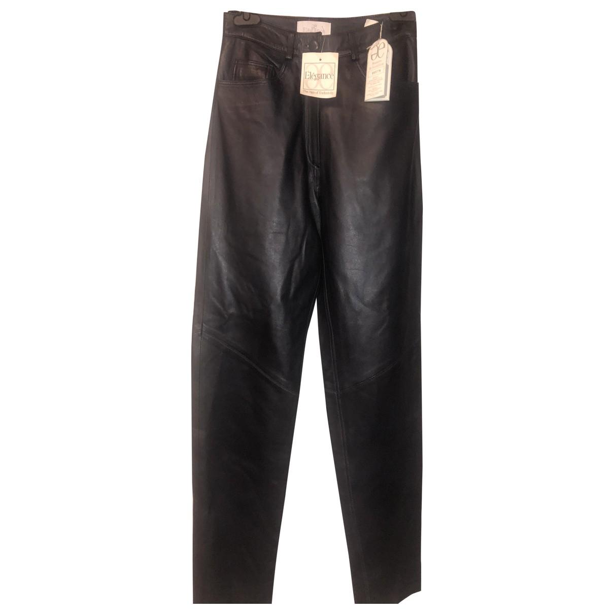 Pantalon largo de Cuero Elegance Paris