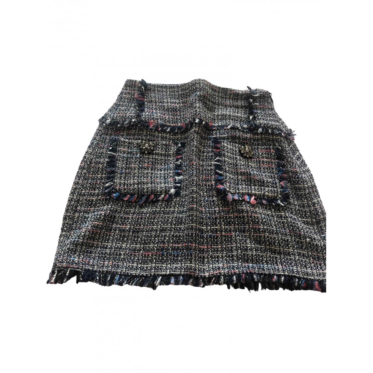 Zara - Robe   pour femme en coton - bleu