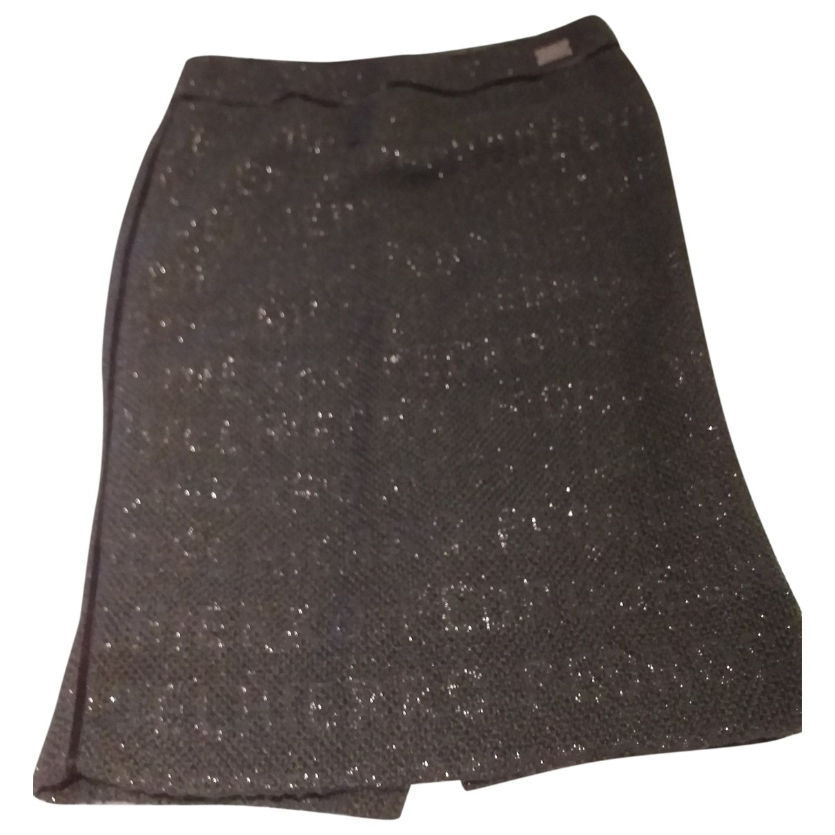 Pedro Del Hierro \N Black Wool skirt for Women 44 FR