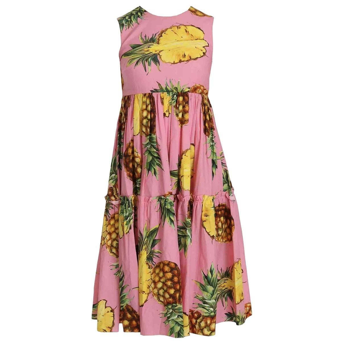 Dolce & Gabbana - Robe   pour femme en coton - rose