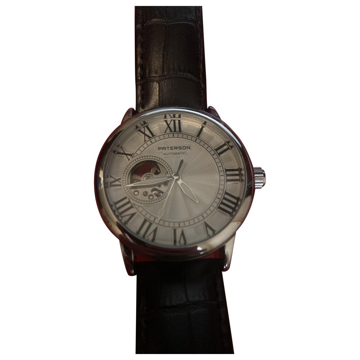 Paterson \N Black Steel watch for Men \N