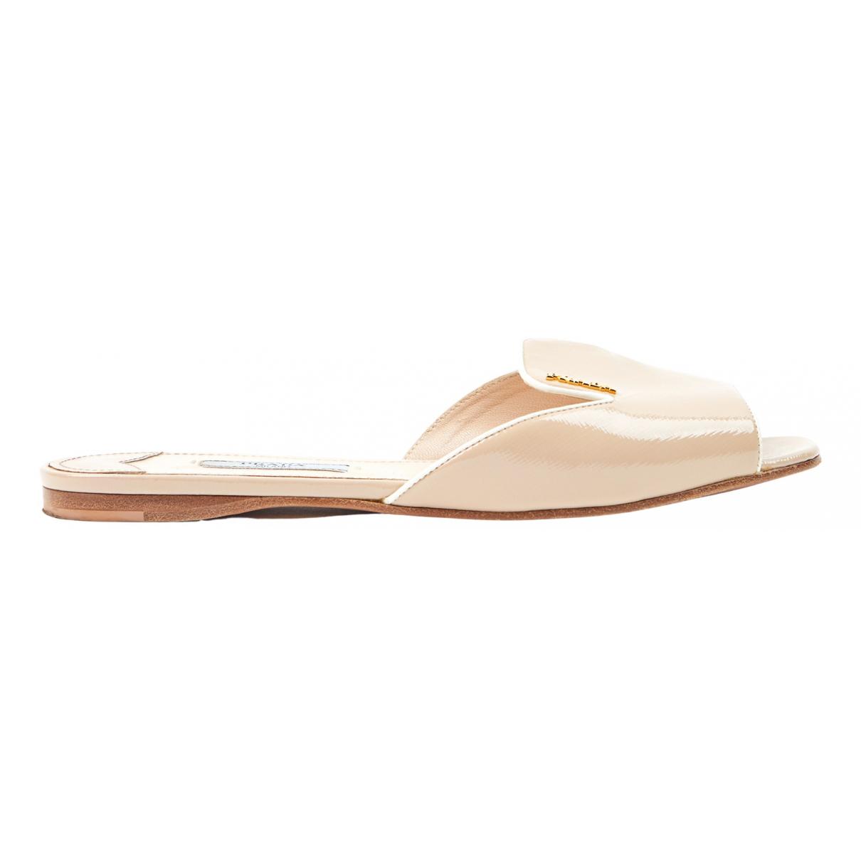 Prada N Beige Leather Sandals for Women 36.5 EU