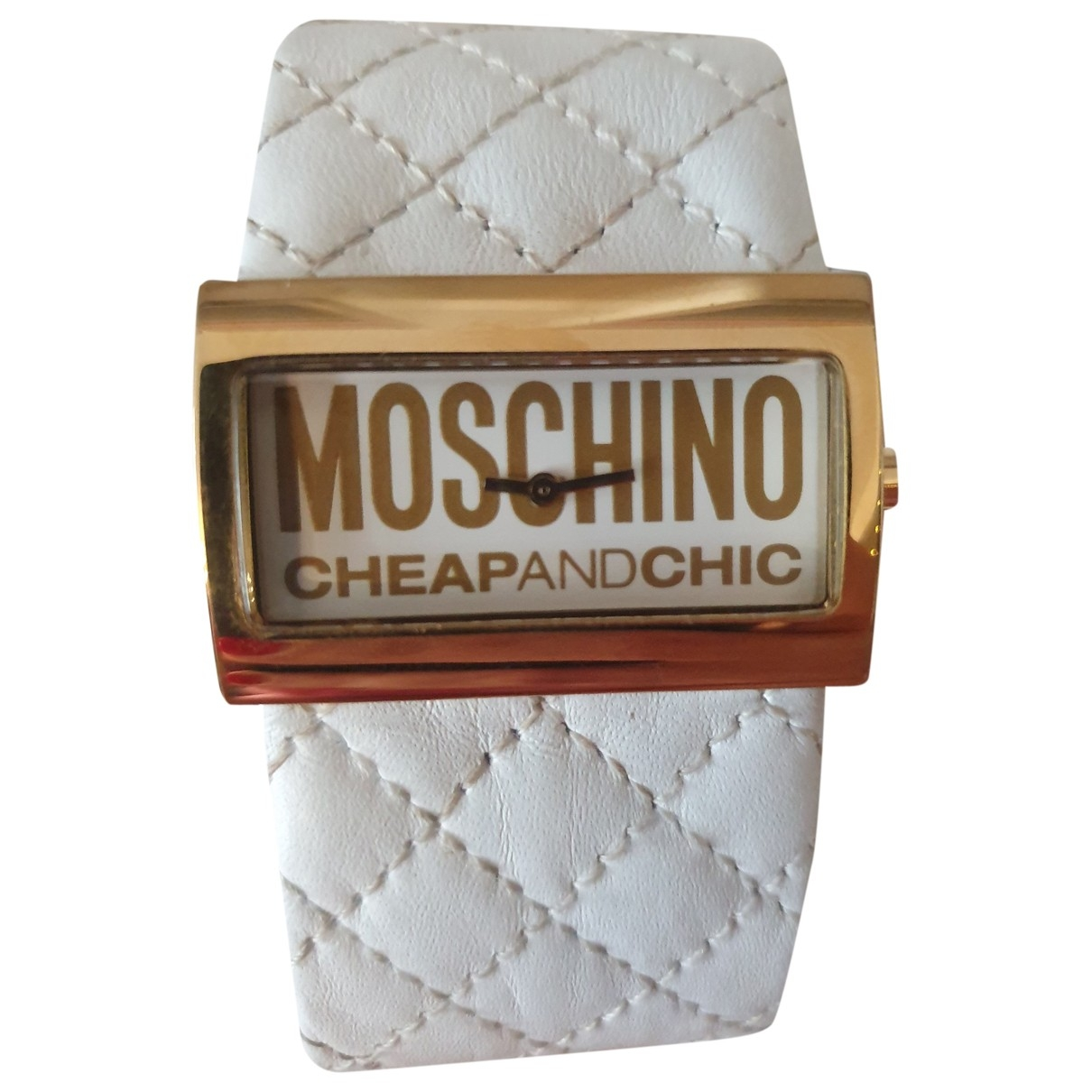 Moschino Cheap And Chic \N Uhr in  Weiss Stahl