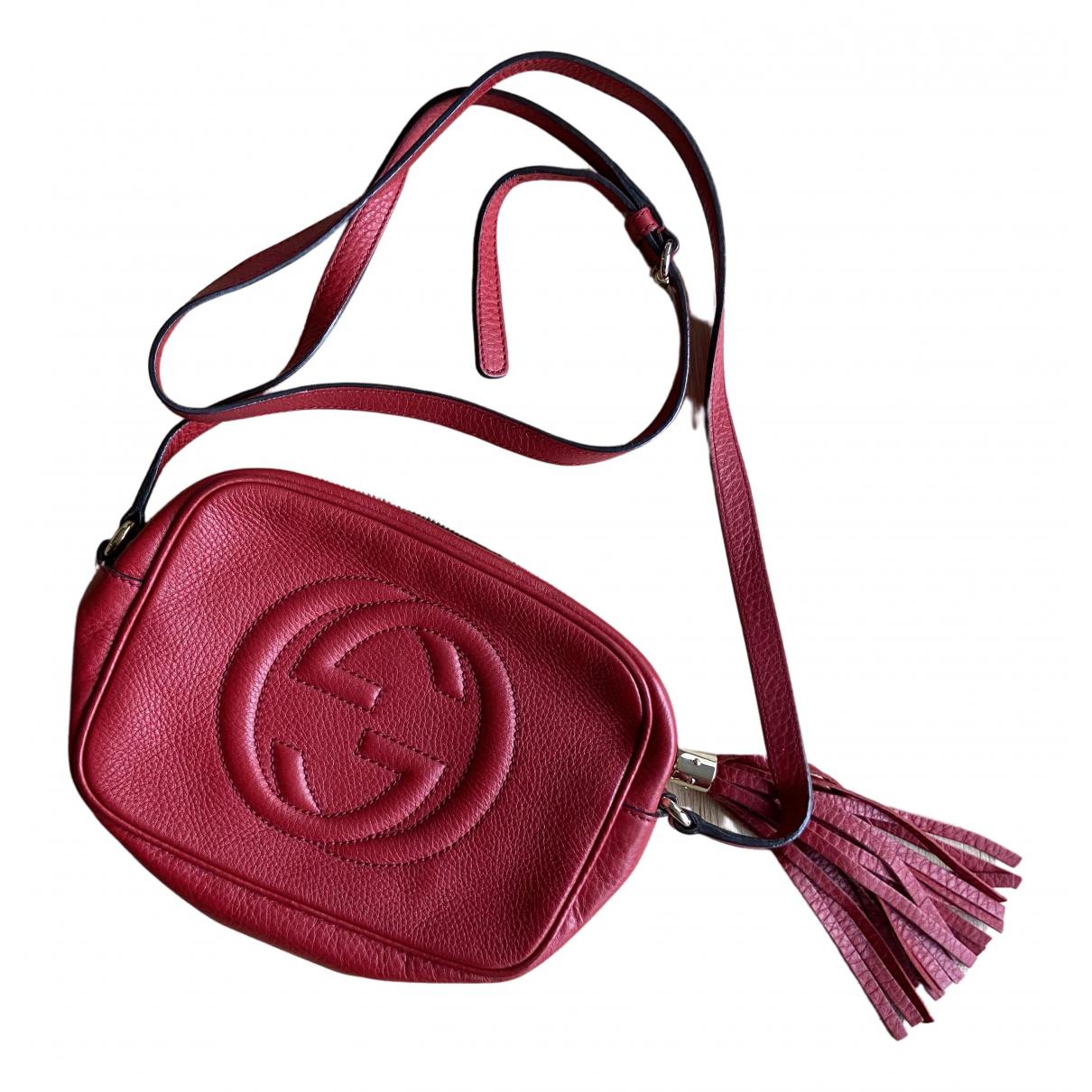Gucci - Pochette Soho pour femme en cuir - rouge