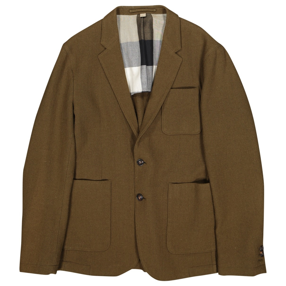 Burberry \N Jacke in  Khaki Wolle