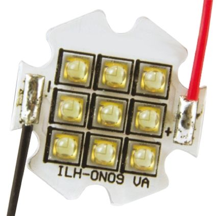 Intelligent LED Solutions ILS ILH-OW09-WMWH-SC211-WIR200., OSLON 150 9+ PowerStar Circular LED Array, 9 White LED (3000K)