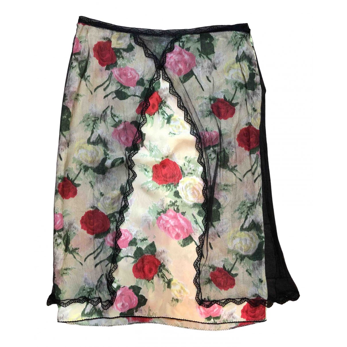 Blumarine \N White Silk skirt for Women 42 IT