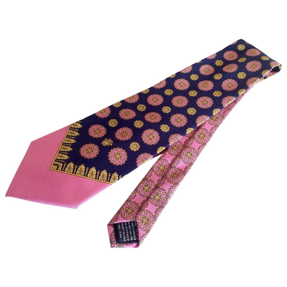 Gianni Versace \N Krawatten in  Rosa Seide