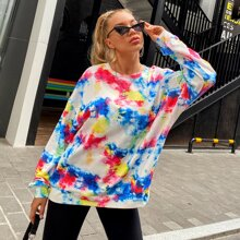 Tie Dye Drop Shoulder Boyfriend Sweatshirt