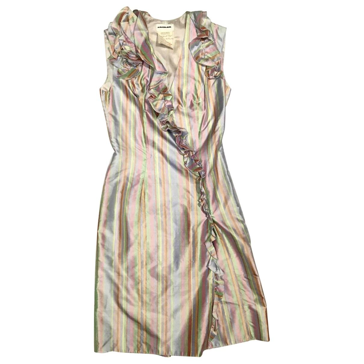 Mugler \N Multicolour Silk dress for Women 36 FR