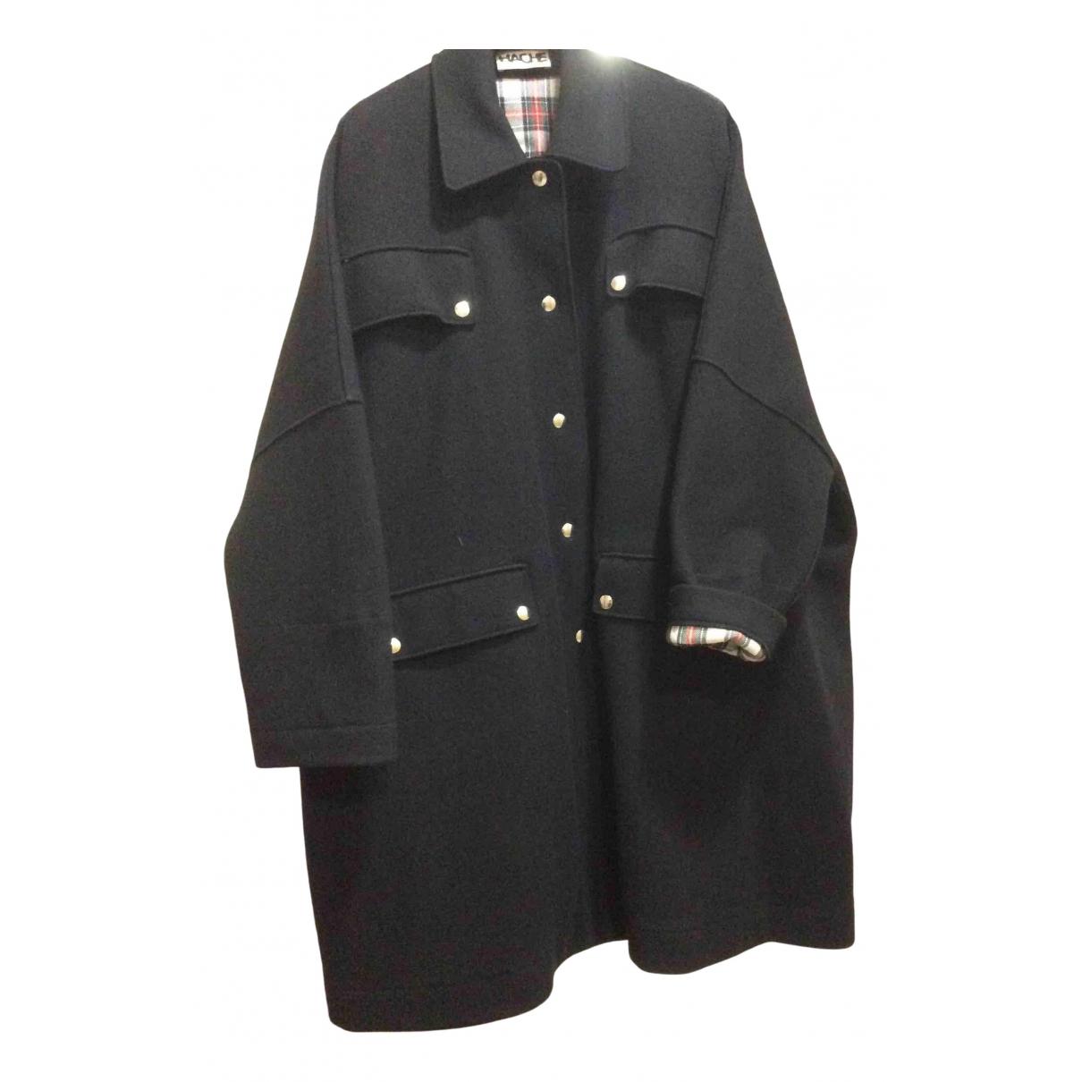 Hache \N Black Wool coat for Women 44 IT
