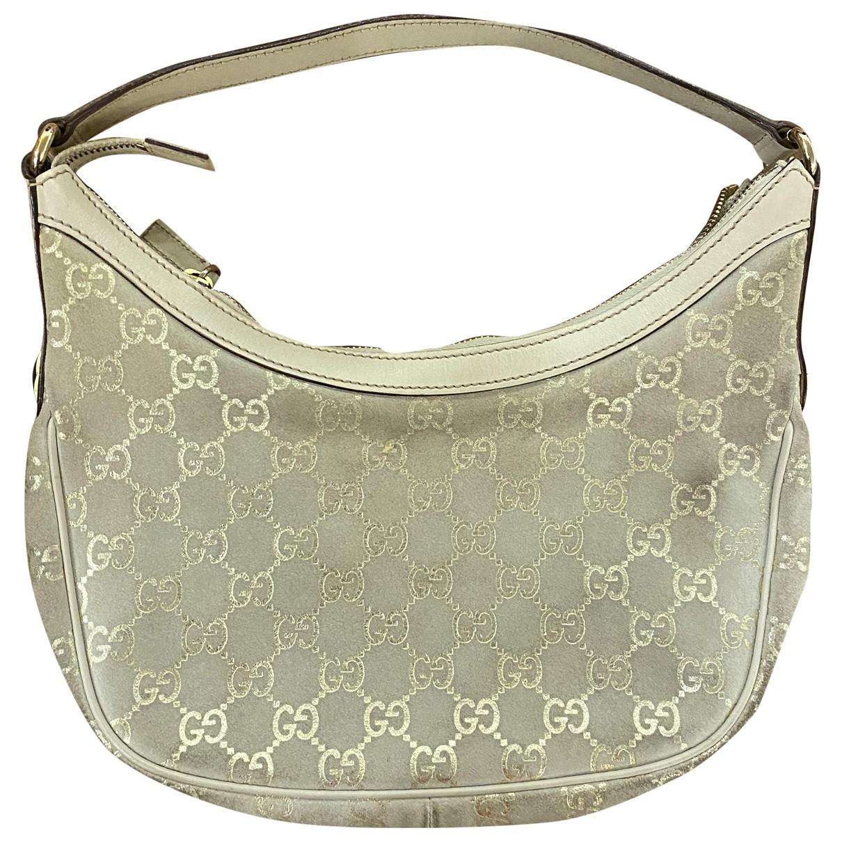 Gucci \N Handtasche in  Gold Leinen