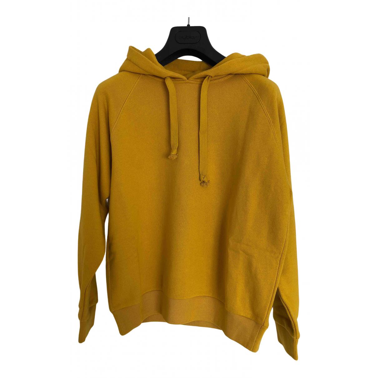 Gucci - Pull   pour femme en coton - jaune