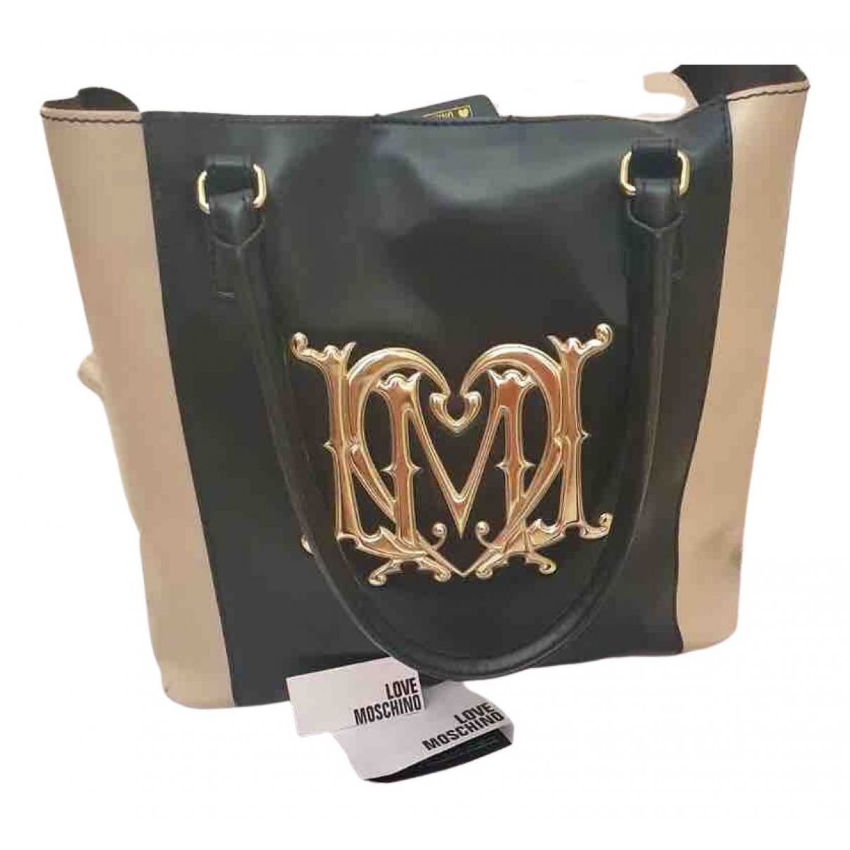 Moschino Love N Black Patent leather handbag for Women N