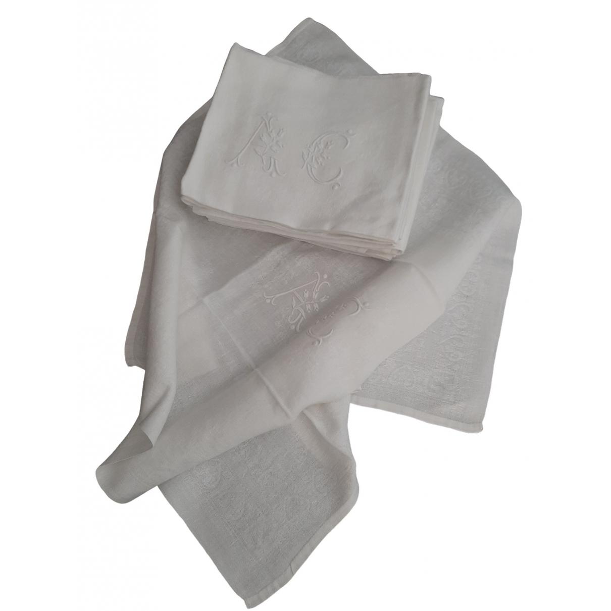 - Linge de maison   pour lifestyle en coton - blanc