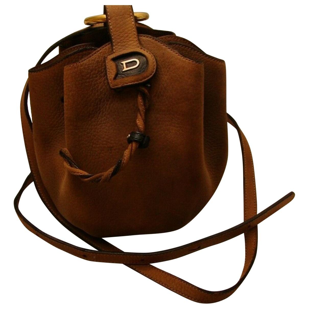 Delvaux \N Handtasche in  Braun Leder